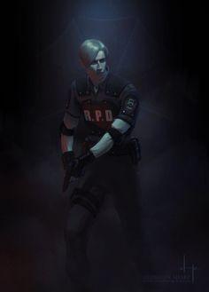 Leon - Resident Evil 2 Remake by HoustonSharp on DeviantArt Evil Pictures, Fantasy Pictures, Evil Pics, Leon S Kennedy, Resident Evil Video Game, Resident Evil Collection, Albert Wesker, Game Art, Videos