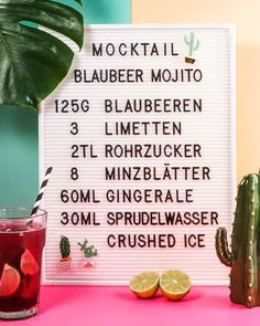 Mocktail - Rezept für alkoholfreien Mojito Mojito, Happy Pregnancy, Ginger Ale, Lettering, Crushes, Food And Drink, Drinks, Lounge, Recipes