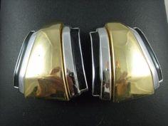 Alexis Kirk Vintage Modernist Geometric Two-Tone Black Enamel Bold Cast Earrings - http://designerjewelrygalleria.com/alexis-kirk/alexis-kirk-vintage-modernist-geometric-two-tone-black-enamel-bold-cast-earrings/