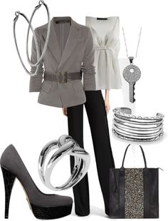 """""""Gray/blk"""" by kloeyblue on Polyvore"""