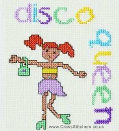 0 point de croix disco queen - cross stitch