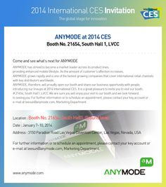 ANYMODE @ 2014CES come and join here in LasVegas