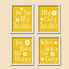 You Are My Sunshine Wall Art Decor Canvas by SunshinePrinting, $37.00