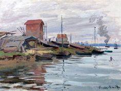 The Seine at Petit-Gennevilliers - Claude Monet