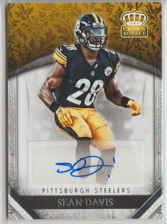 c84c8186ca6 2016 Crown Royale SEAN DAVIS RC Auto #28 Steelers SP Rookie Autograph