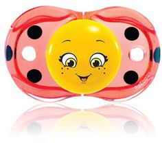 Lola Ladybug – Our Keep it Kleen Pacifier that closes when dropped to keep the nipple free of germs and dirt. RaZbaby, A Happy Baby!
