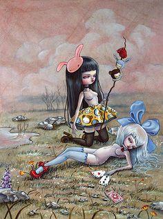 Nataly Abramovich – Illustrations from Kukula Land Art And Illustration, Illustrations, Fantasy Kunst, Fantasy Art, Bel Art, Art Kawaii, Mark Ryden, Arte Horror, Sexy Cartoons