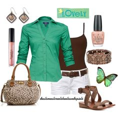 green, brown, & a touch of cheetah
