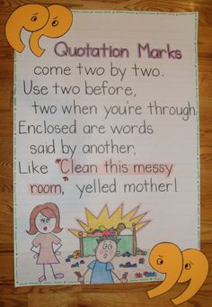 Anchor chart: Quotation Marks poem