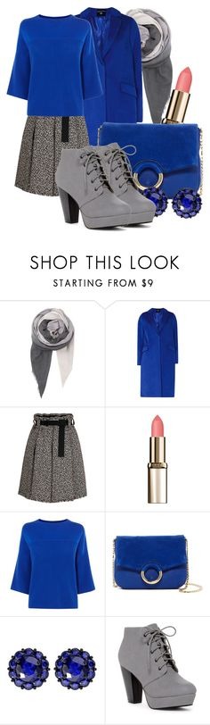 """""""Feeling Blue"""" by baratheon-girl ❤ liked on Polyvore featuring BeckSöndergaard, Dorothy Perkins, L'Oréal Paris, Karen Millen, Vince Camuto, Color My Life and ANNA"""
