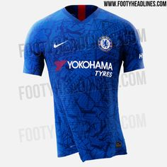 The Chelsea home kit by Nike is inspired by Stamford Bridge, showcasing a unique all-over abstract graphic print. Chelsea Football, Chelsea Fc, College Football, European Soccer, Stamford Bridge, Zinedine Zidane, Ac Milan, Tottenham Hotspur, Liverpool Fc