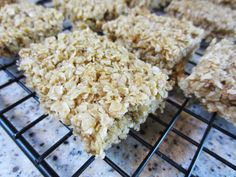 My Patchwork Quilt: GLUTEN - FREE OATMEAL SQUARES