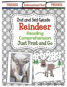Second and third grade teachers this Reindeer: Reading Comprehension Freebie is a great sample of my larger product! %0A%0AReindeer: Reading Comprehension 2nd and 3rd Grade {Just Print and Go}%0A %0A%0AReindeer: Reading Comprehension Unit has all 3 types of literature!