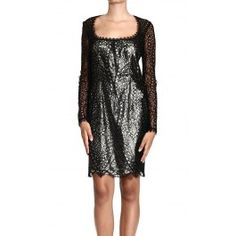 EMILIO PUCCI LONG SLEEVE LACE DRESS WITH HOLE ON THE BACK Price: $2302.65 Shop @ Giglio.com