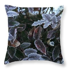 Marina Usmanskaya Throw Pillow featuring the pyrography Memories Of Frosts by Marina Usmanskaya #MarinaUsmanskayaFineArtPhotography#ArtForHome#ArtPrints #Nature #Frost