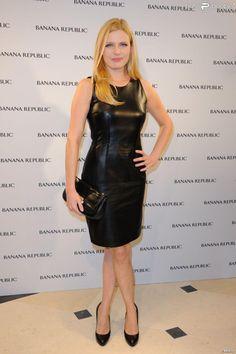 Elodie Frégé à l'inauguration de la boutique Banana Republic à Paris le 7 décembre 2011