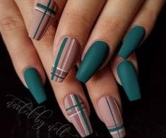 Nail Art Design for Fall # fashionminis Nails Loading. Nail Art Design for Fall # fashionminis Nails Xmas Nails, Halloween Nails, Christmas Nails, Valentine Nails, Halloween Makeup, Plaid Nails, Plaid Nail Art, Argyle Nails, Nail Art Stripes