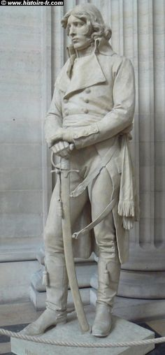 Statue of General Louis-Lazare Hoche at The Pantheon, Paris