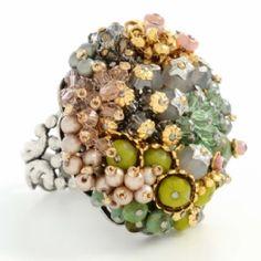 Miriam Haskell Garden Cluster Ring