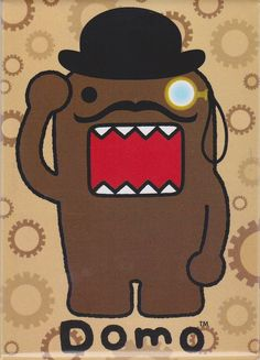 Steampunk Domo with Mustache and Monocle Magnet