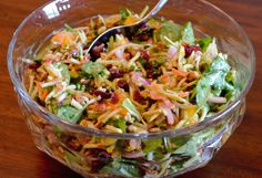 Broccoli Slaw Salad with Citrus Vinaigrette: I love crunchy salads with lots of flavor and this is one of my favorites. It's bursting with crunchy, flavorful goodness! The different textures and flavors combine to make a party in your mouth. ...