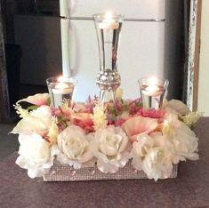 Mercury Glass wedding centerpiece - Erin Johnson Photography #centerpiece #weddingflowers #weddings #weddingcenterpieces #bellethemagazine Unique Centerpieces, Wedding Table Centerpieces, Flower Centerpieces, Flower Arrangements, Wedding Decorations, Centerpiece Ideas, Floral Wedding, Diy Wedding, Wedding Flowers