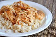 Slow Cooker Kansas City Sue's Chicken features fall-apart tender chicken breasts with a sweet sauce with barbecue flavors.
