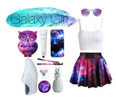"""galaxy girl"" by amlove26 ❤ liked on Polyvore featuring Hot Topic, Ray-Ban, Eva NYC, Keds, Rodin, Accessorize and Lazy Susan"