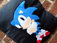 sonic hedgehog fast blue video game pillow cushion gift