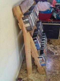Pallet dvd storage i made