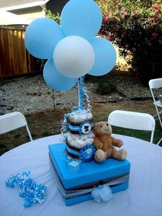 Blue and brown teddy bears Baby Shower Party Ideas | Photo 20 of 26 | Catch My Party