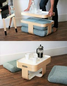 Creative Ideas for Modern Smart Furniture: Furniture is a vital part of home interior creating the ambiance and providing comfort as well as utility. Smart Furniture, Space Saving Furniture, Furniture Design, Furniture Ideas, Furniture Nyc, Multifunctional Furniture Small Spaces, Compact Furniture, Furniture Cleaning, Furniture Websites