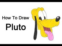 how to draw pluto easy  Tutorials  Pinterest  Cartoon and Drawings