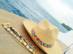 Panama Hat + bracelet by Hipanema - at Nueve Musas
