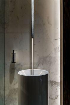 Modern Sink, Oceanfront Home in Sagaponack, New York