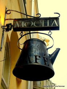 Coffee-house, Tallinn. I HAVE TO HAVE ONE OF THESE CUTE LITTLE SIGNS PLEASE.