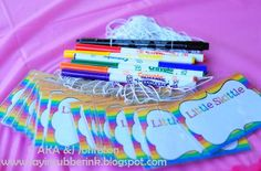 Rainbow Party - Labels - {DIY Printables}    TheDigiButterfly.com  TheDigiButterflyPRTY.etsy.com
