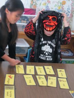 """The children at The Brook School did a great job using """"keywords"""" to retell the Halloween story, """"Room on the Broom."""""""
