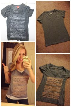 old tshirt + bleach pen = totally cute DIY project