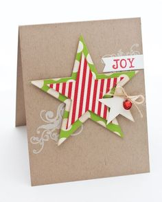 Click the link to learn more Handmade Christmas Card Ideas Homemade Christmas Cards, Handmade Christmas, Homemade Cards, Christmas Crafts, Christmas Stars, Christmas Ideas, Christmas Greeting Cards, Christmas Greetings, Simple Christmas Cards