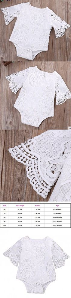 White Cute Embroidery Baby Girl Lace Skirt For Summer 3-24Months