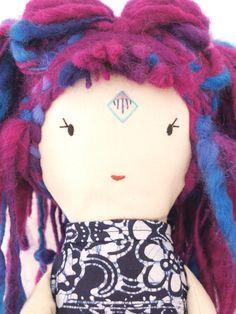 Close-up of Sayen Doll by Lily Blaise