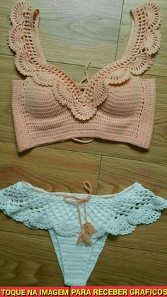 Bikini/bathing suit for small chest ❤ yourbody✨Seno piccoloCrochet Swimwear Crochet top bottoms Discovred by : Chiêu Firefly Easy AF Ways to Make a Crop Top With Stuff You Already Have For all you guys living that DIY life.Ideas For Swimwear Motif Bikini Crochet, Crochet Bra, Mode Crochet, Crochet Crop Top, Crochet Clothes, Crochet Tops, Crochet Bikini Bottoms, Crochet Collar, Crochet Dresses