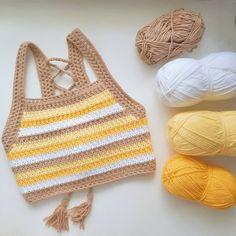 Diy Crochet Top, Pull Crochet, Mode Crochet, Crochet Shirt, Knit Crochet, Crotchet, Diy Crochet Projects, Crochet Crafts, Crochet Designs