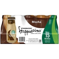 Starbucks Frappuccino Chilled Coffee Drink, Mocha, oz Glass Bottles (Pack of Size: fl oz Starbucks Frappuccino, Vanilla Frappuccino, Starbucks Vanilla, Frappuccino Bottles, Starbucks Drinks, Starbucks Coffee, Coffee Drinks, Nyc Coffee Shop, Coffee Club