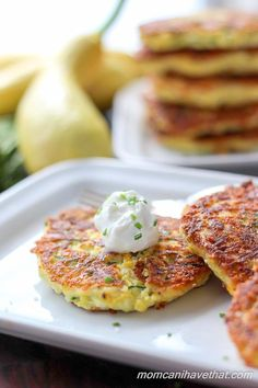The Easiest Low Carb Zucchini Fritters. Serve for breakfast, lunch, dinner or even as a snack! This recipe is low carb, keto, and THM-S compliant!