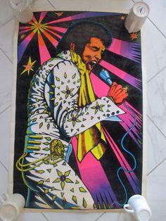 #VINTAGE Elvis Presley Black Light Poster 1974 #70s