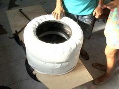 moveis feito com pneus - YouTube