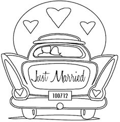 """Kitschy fun """"just married"""" dress embroidery for your honeymoon outfit"""