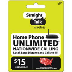 Straight Talk Wireless Home Phone $15 Plan (Email Delivery)